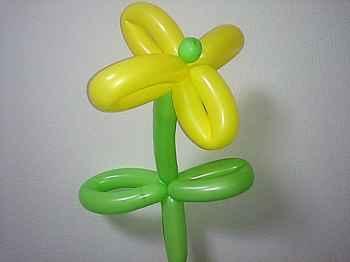 花(4枚)のバルーンアートの作り方_03