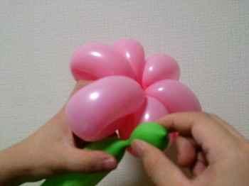 花(6枚)のバルーンアートの作り方_01