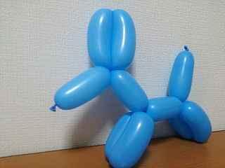犬のバルーンアートの作り方_01
