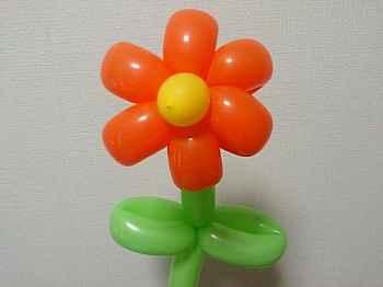 花のバルーンアートの完成