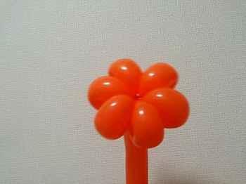 花びらのバルーンアートの作り方_13